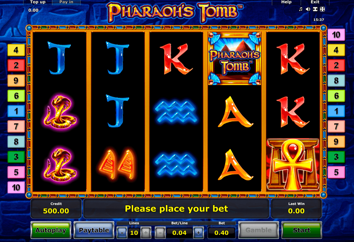 pharaohs tomb novomatic slot machine