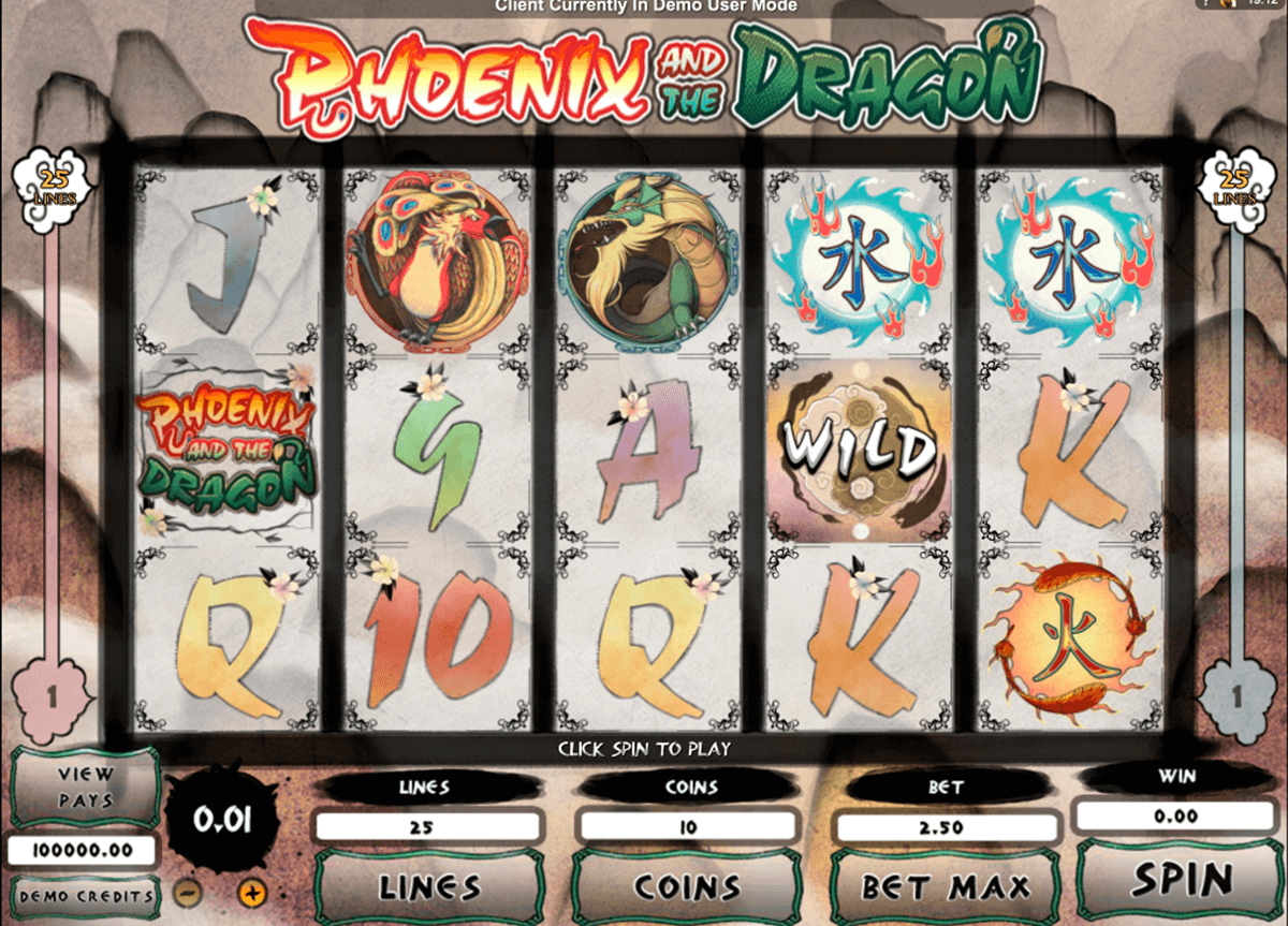phoenix and the dragon microgaming slot machine