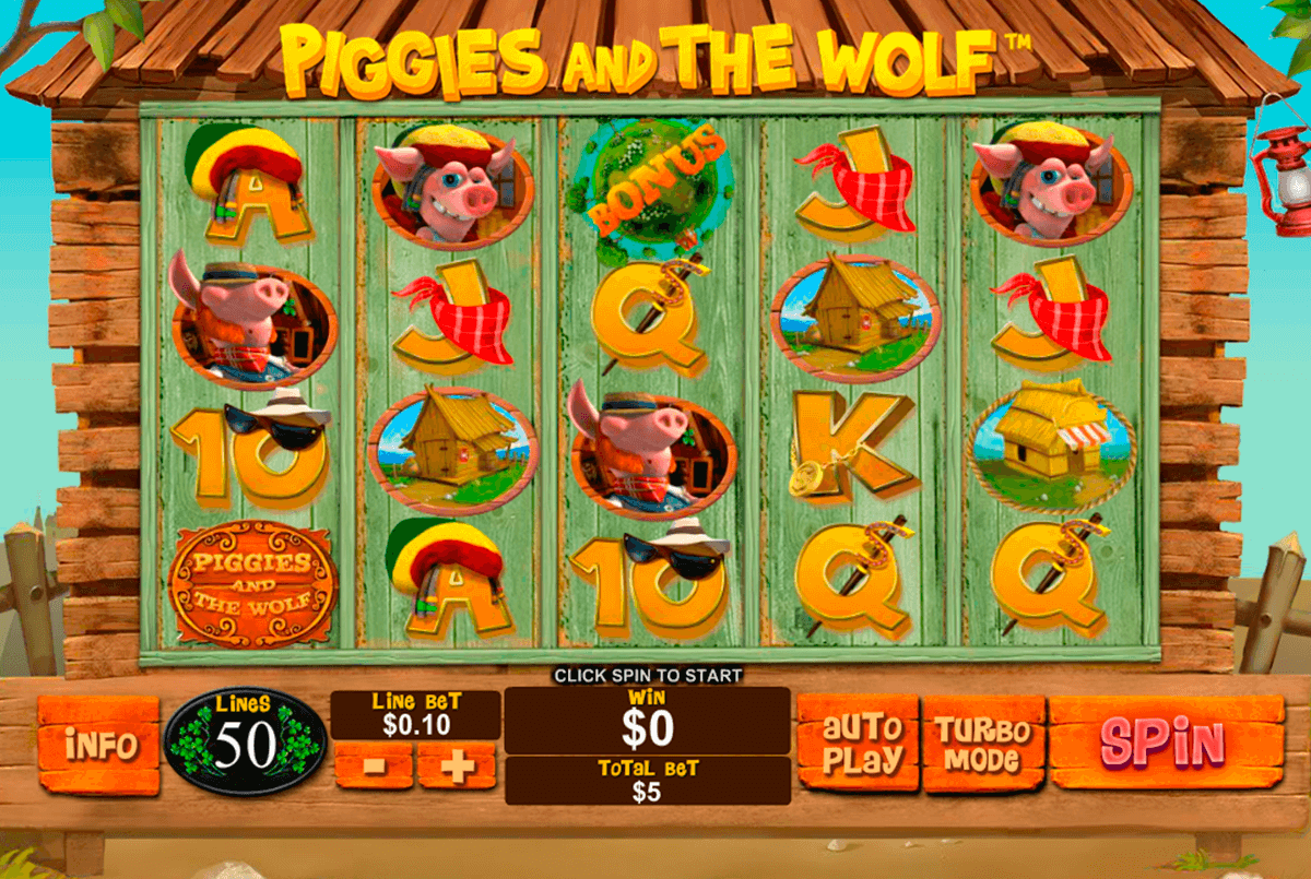 piggies and the wolf playtech slot machine