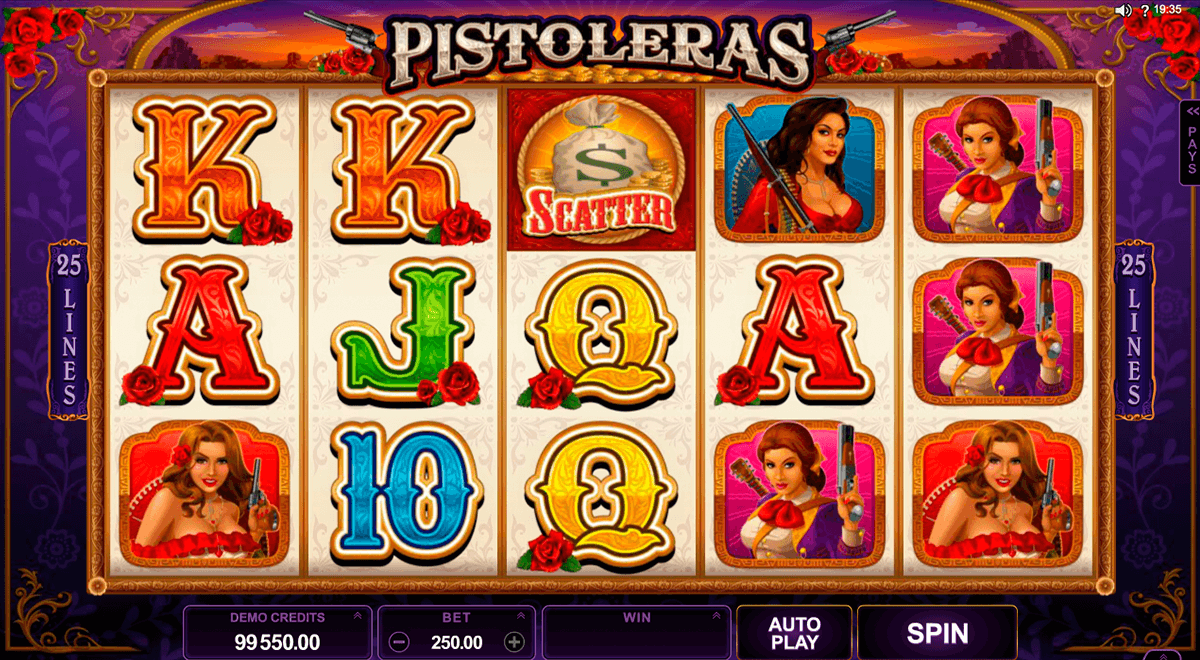 pistoleras microgaming slot machine