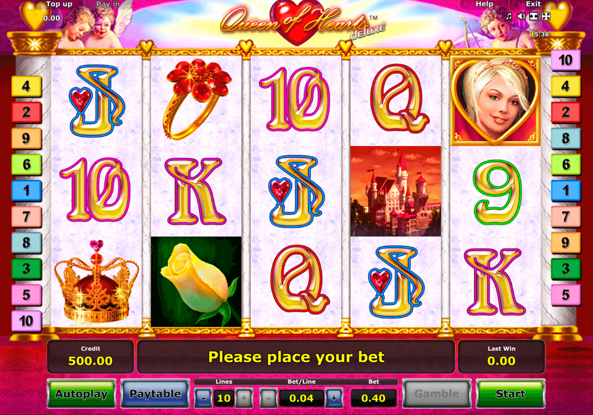 queen of hearts deluxe novomatic slot machine
