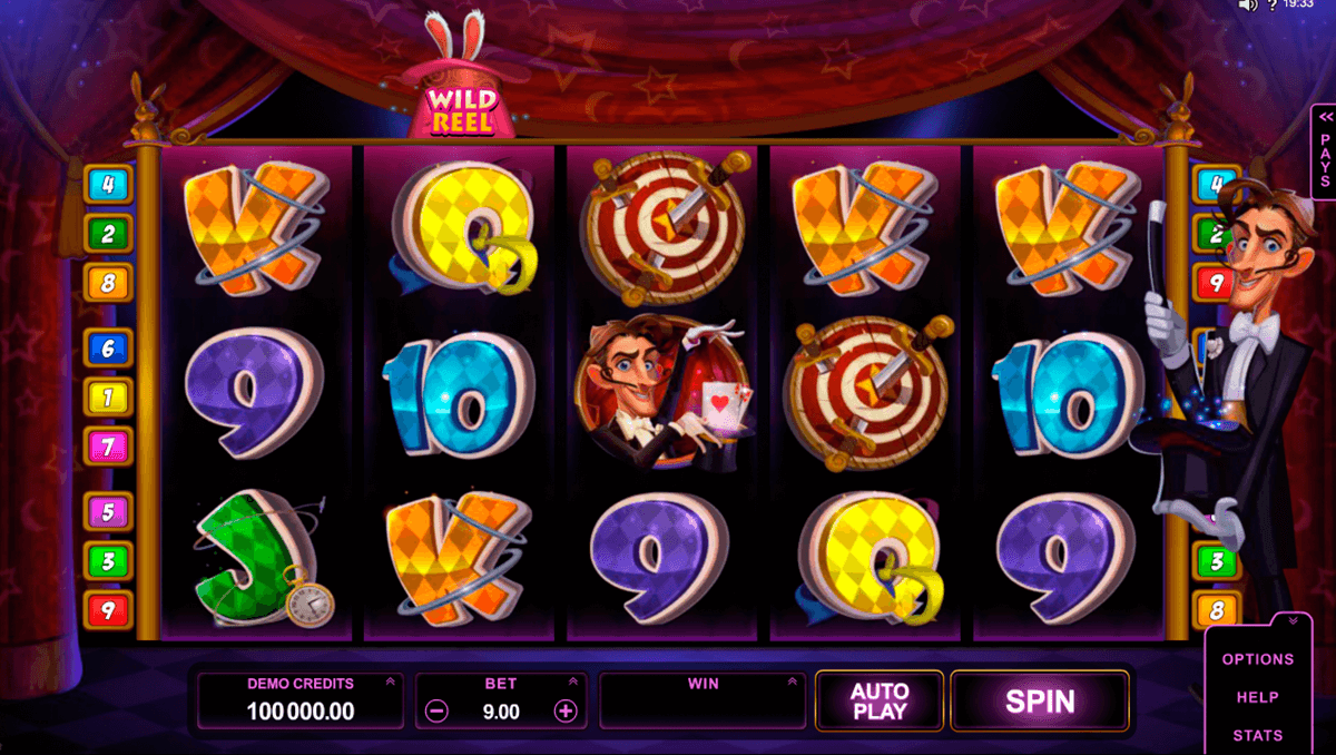 rabbit in the hat microgaming slot machine