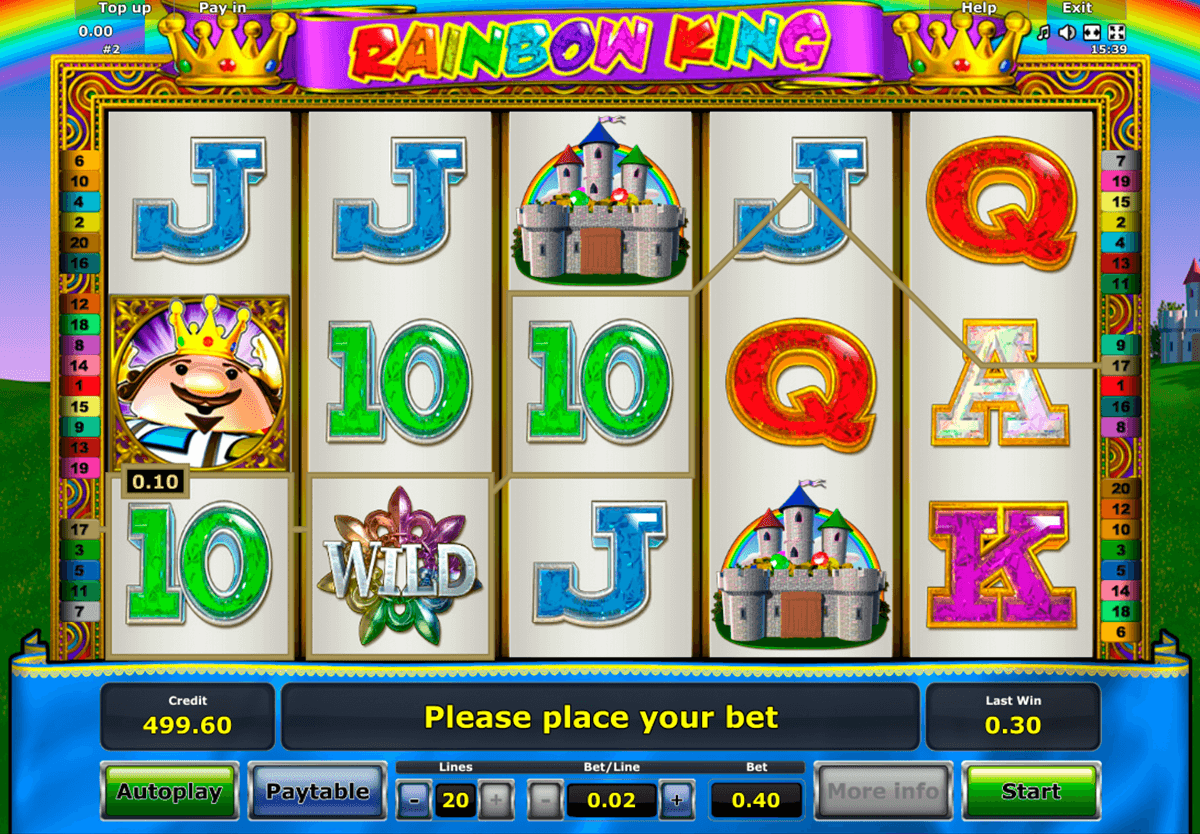rainbow king novomatic slot machine