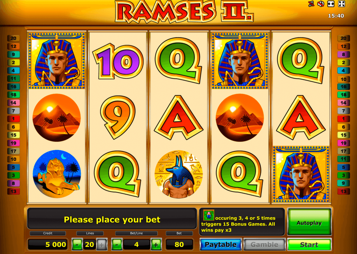 ramses ii deluxe novomatic slot machine