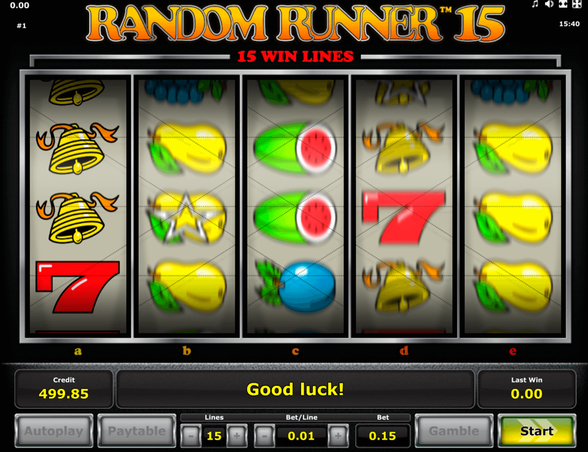 random runner 15 novomatic slot machine