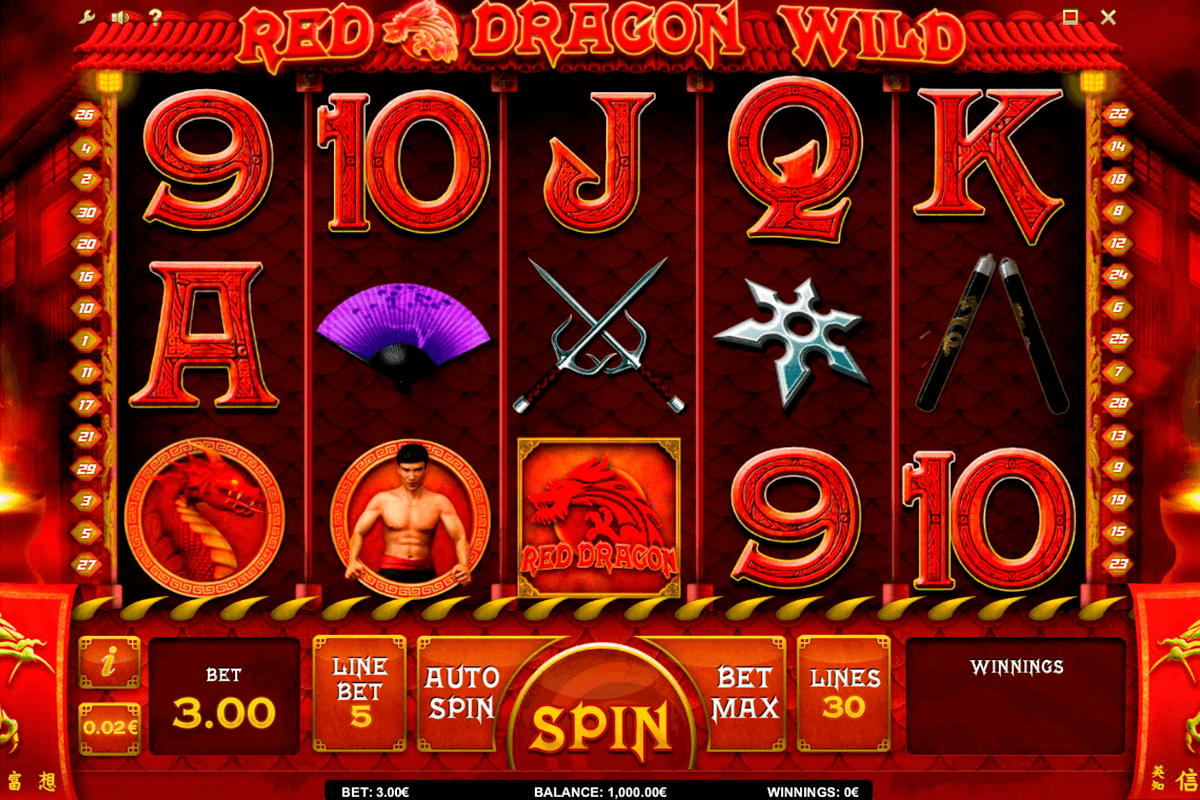 red dragon wild isoftbet slot machine