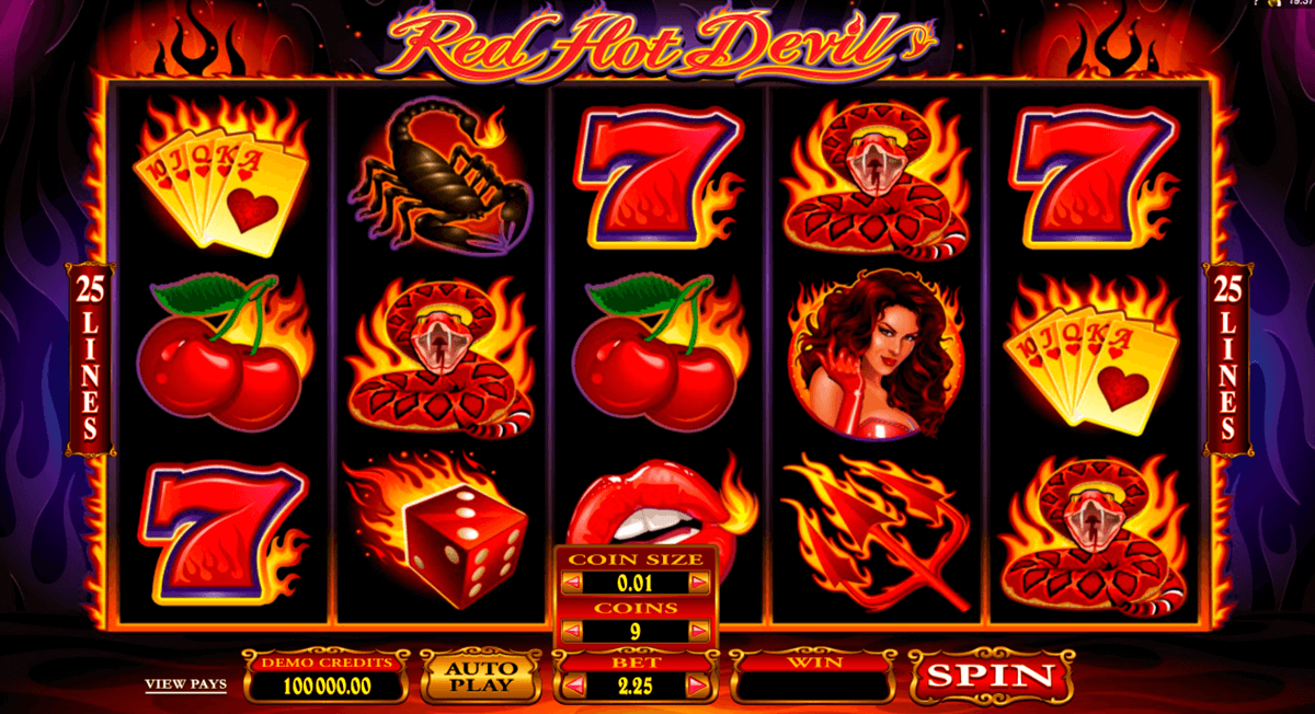 red hot devil microgaming slot machine