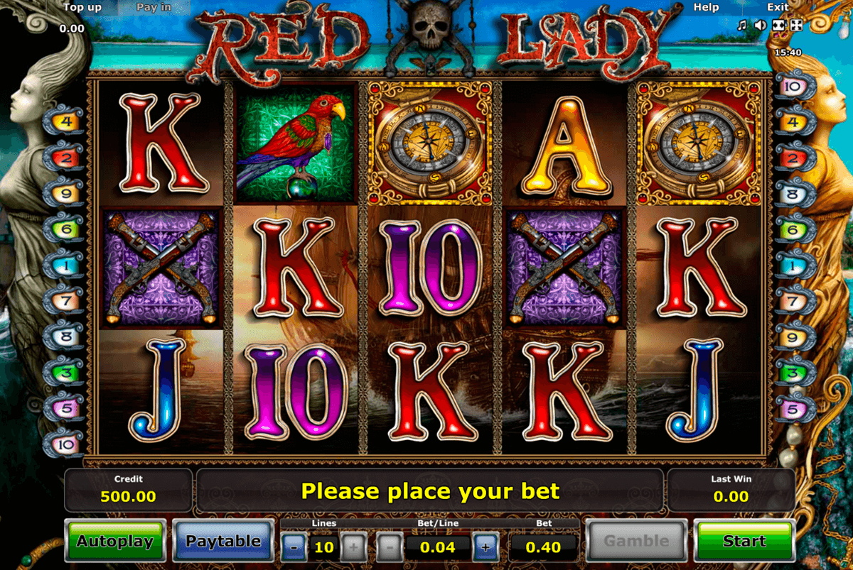 red lady novomatic slot machine