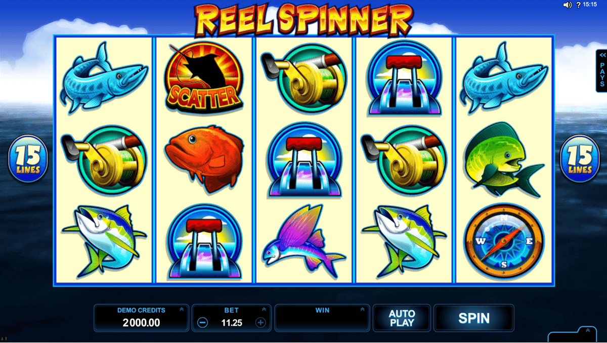 reel spinner microgaming slot machine