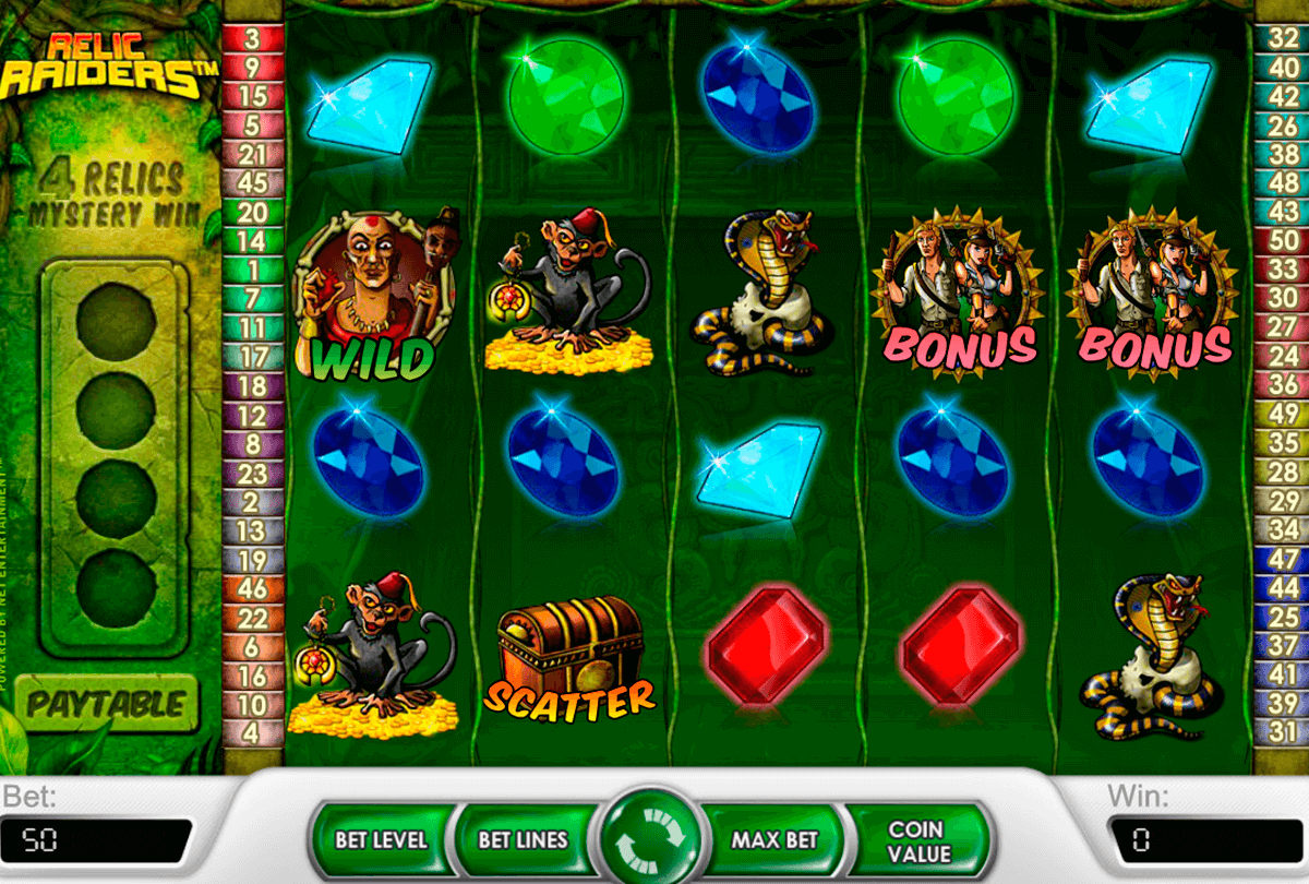 relic raiders netent slot machine