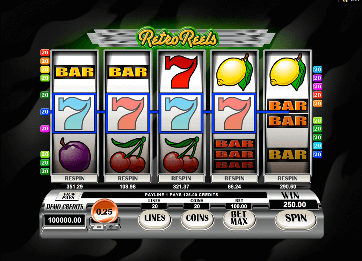 retroreels microgaming slot machine
