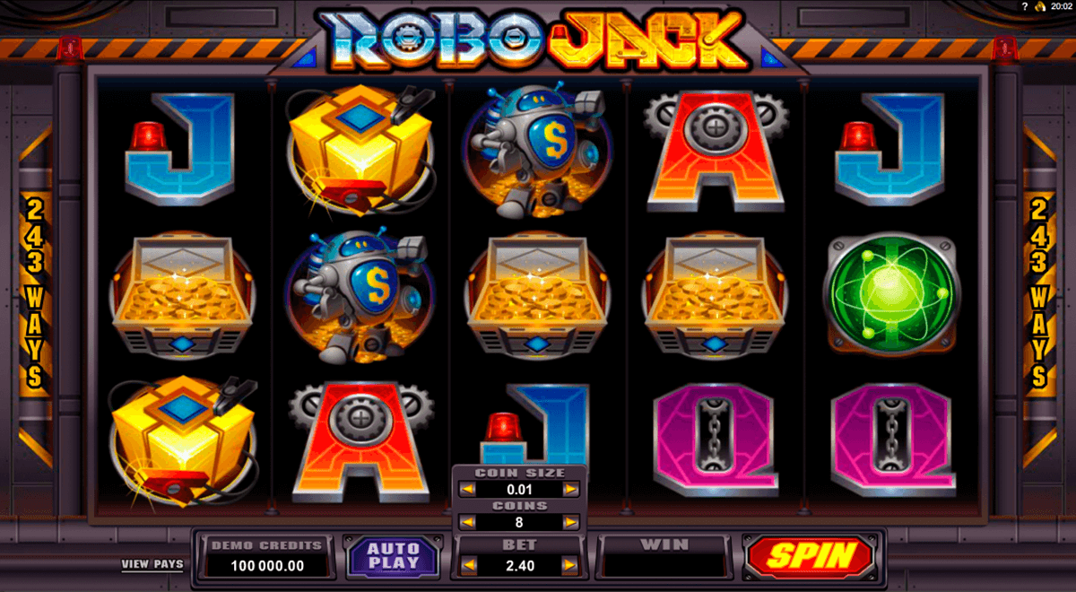 robojack microgaming slot machine