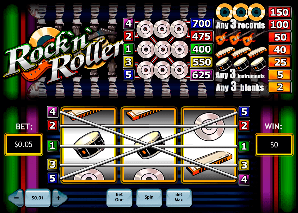 rocknroller playtech slot machine