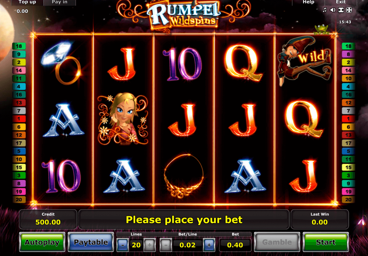 rumpel wildspins novomatic slot machine