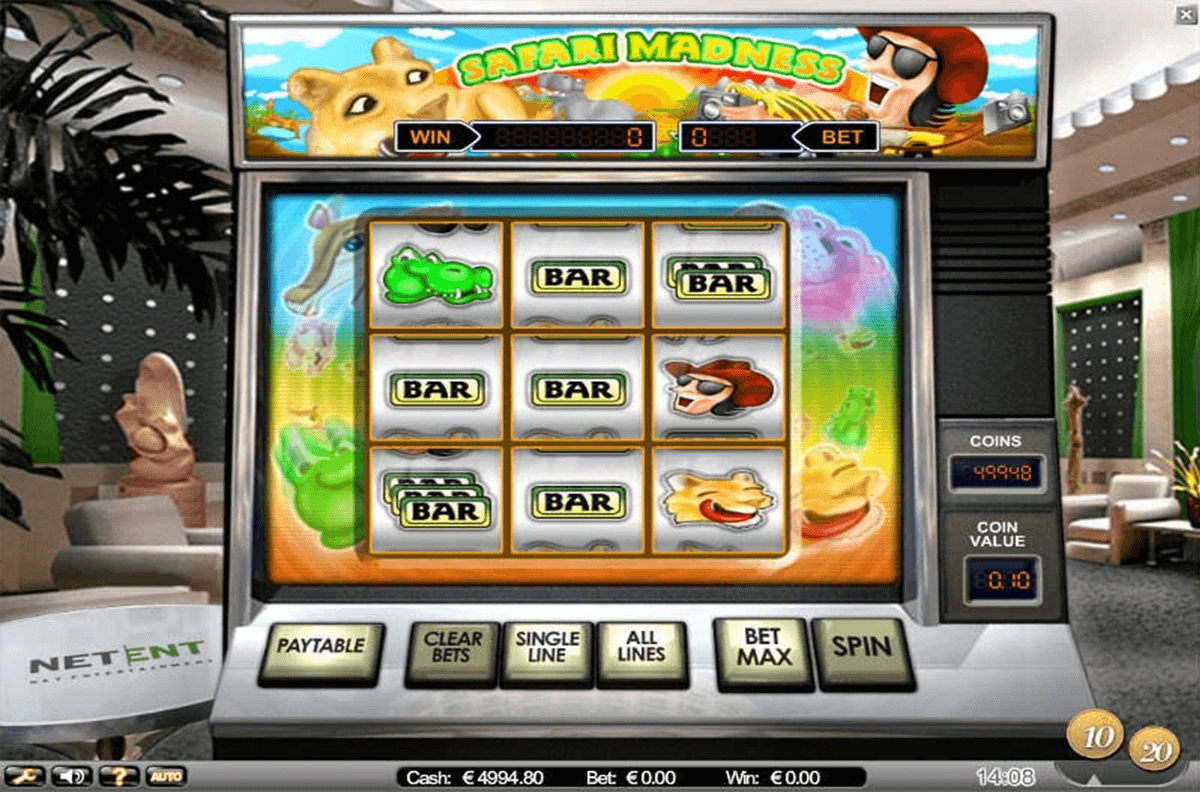 safari madness netent slot machine
