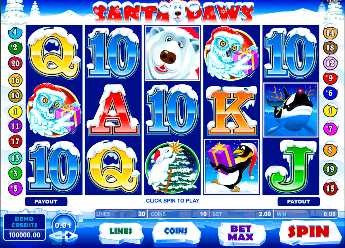 santa paws microgaming slot machine