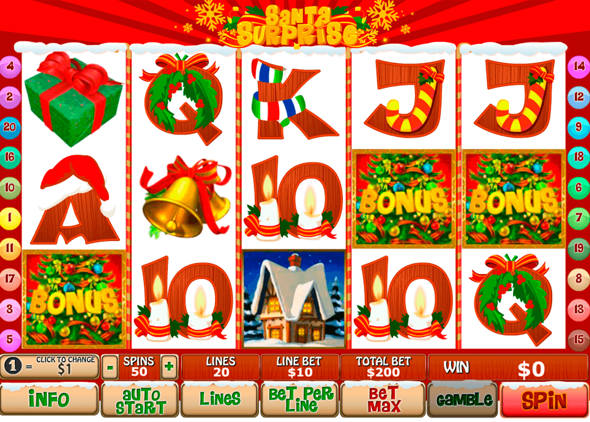 santa surprise playtech slot machine
