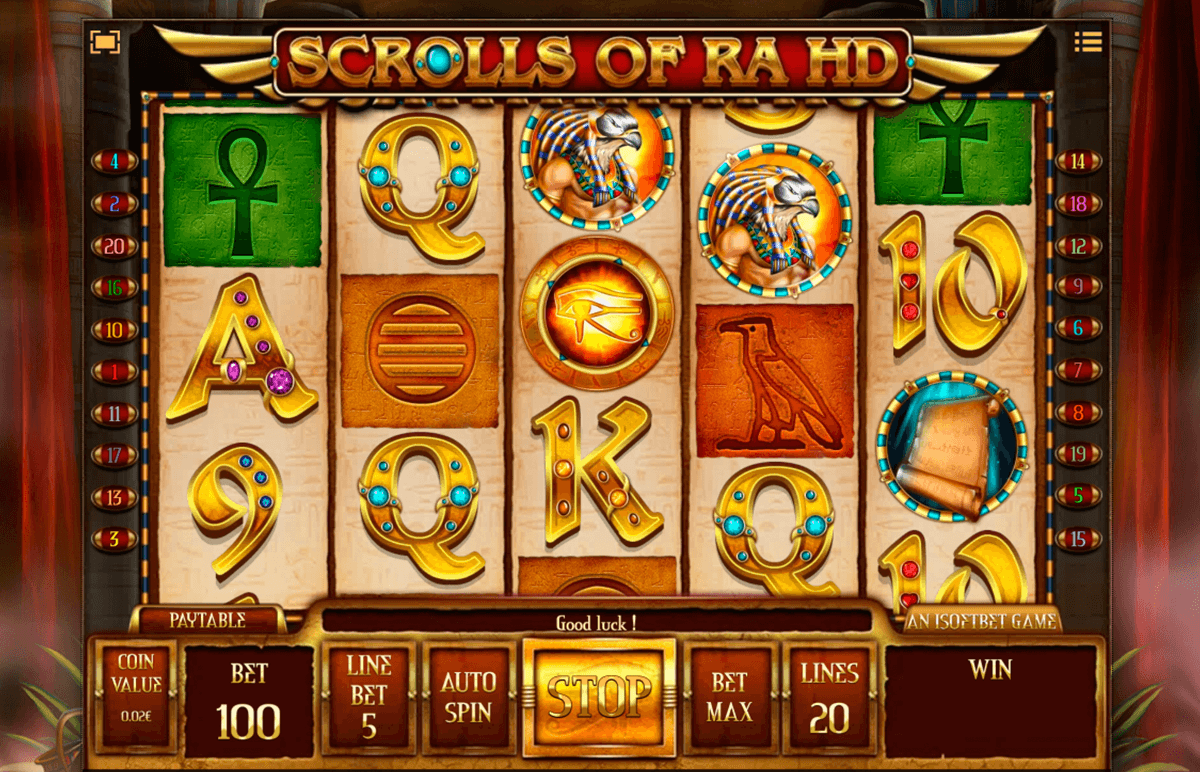 scrolls of ra hd isoftbet slot machine