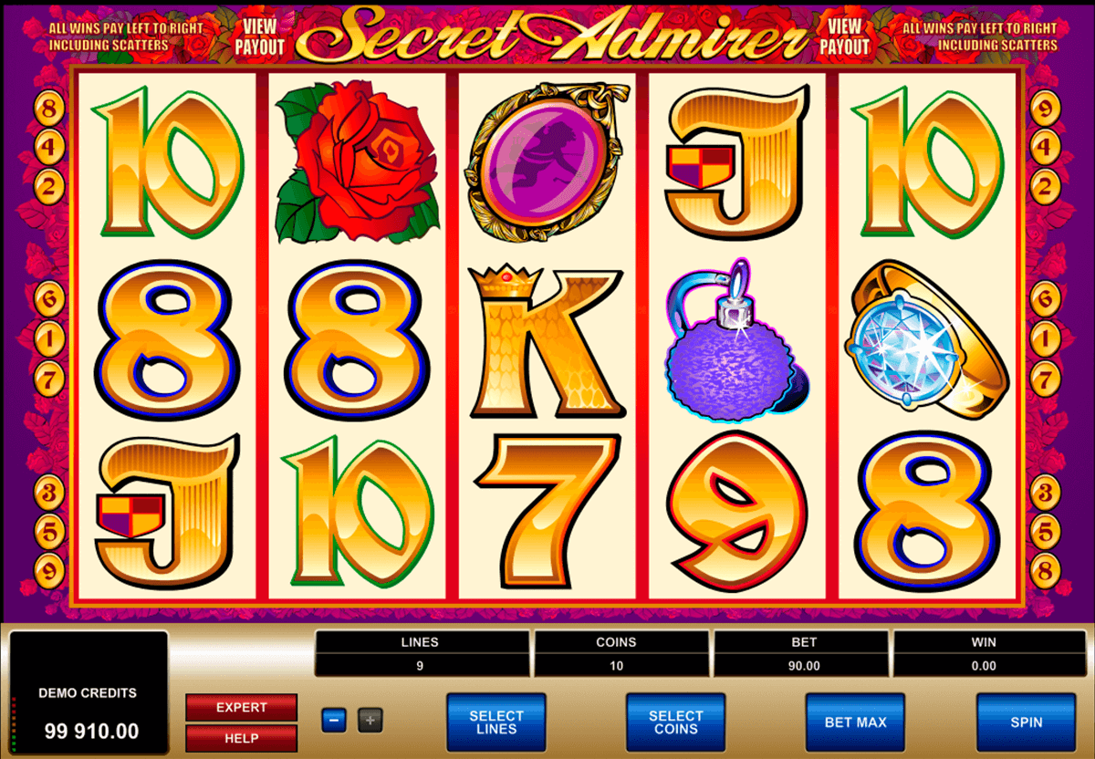 secret admirer microgaming slot machine