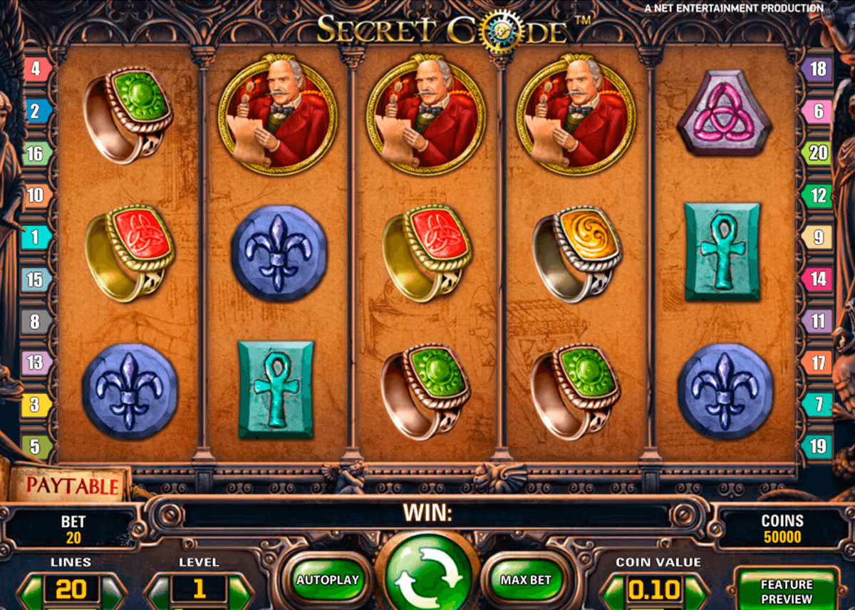 secret code netent slot machine