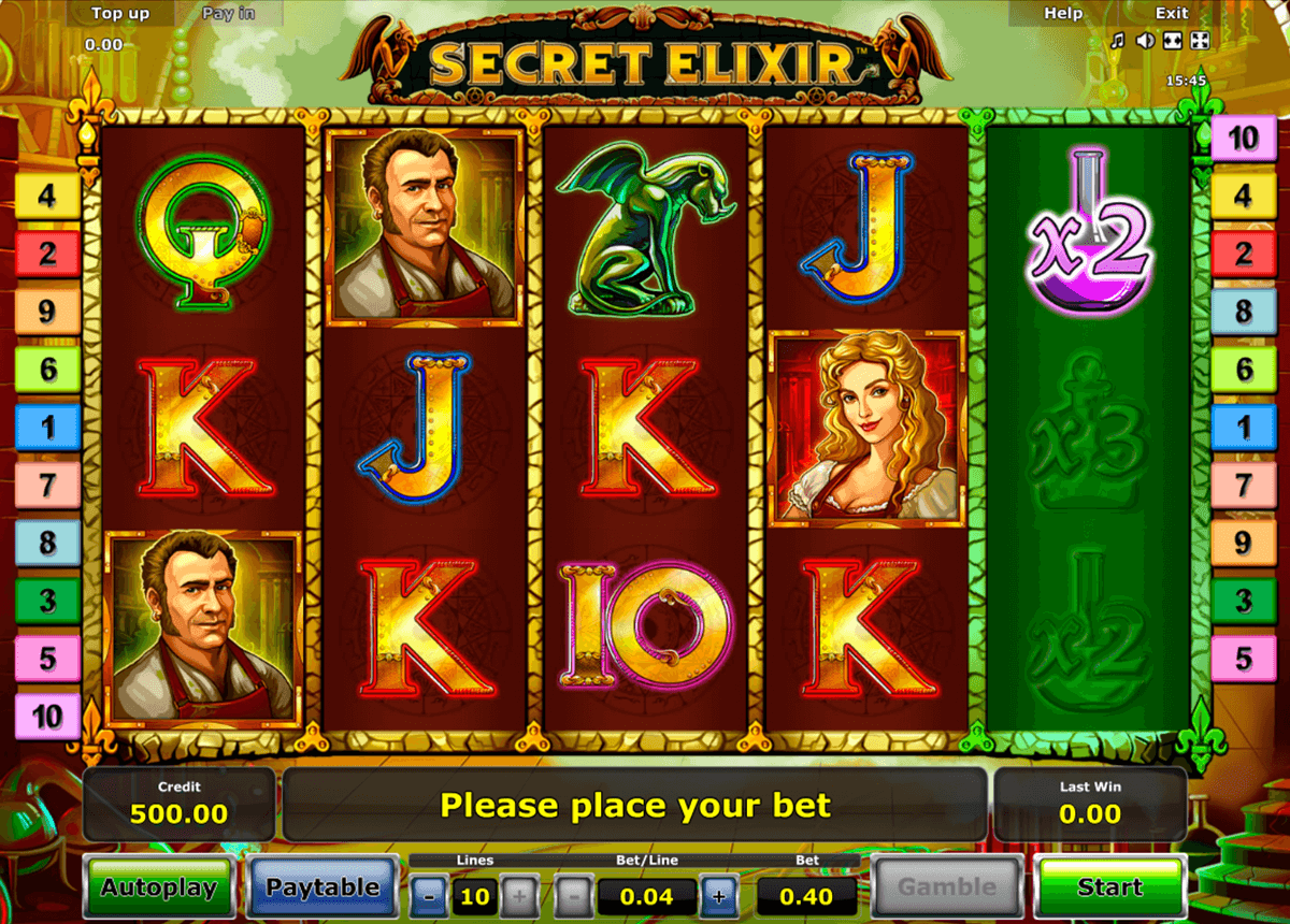 secret elixir novomatic slot machine