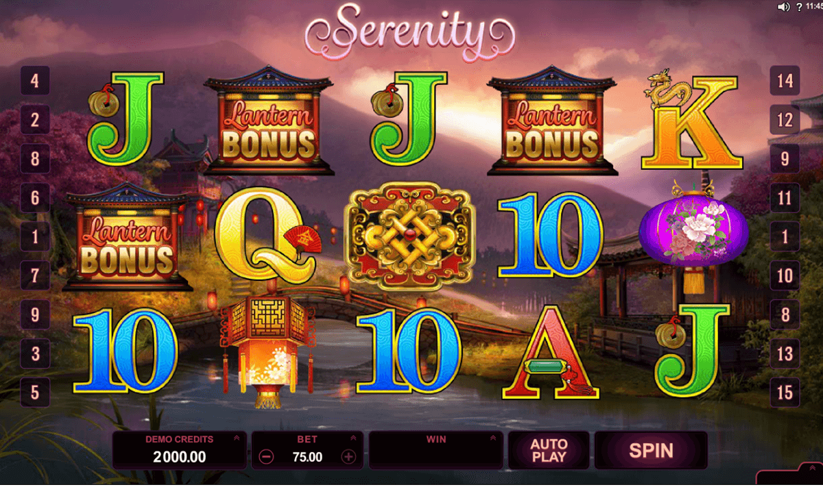 serenity microgaming slot machine