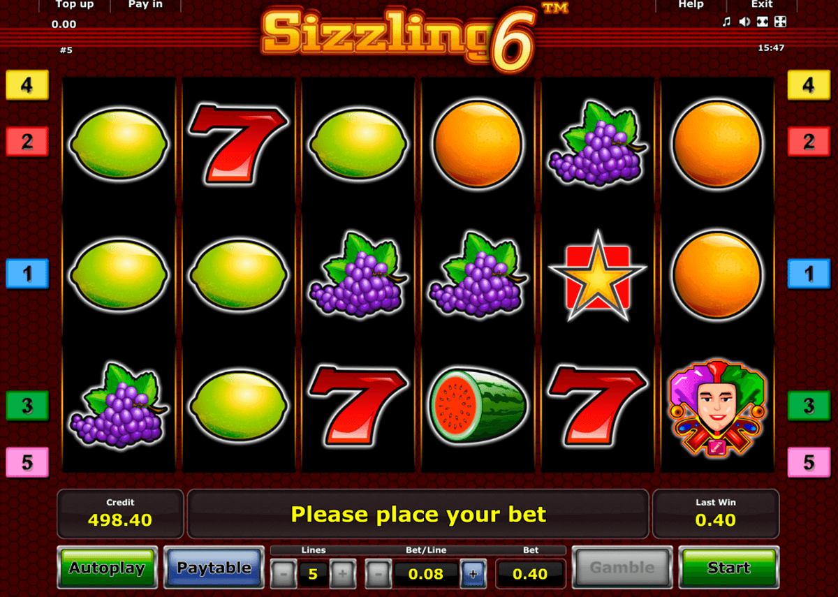 sizzling 6 novomatic slot machine