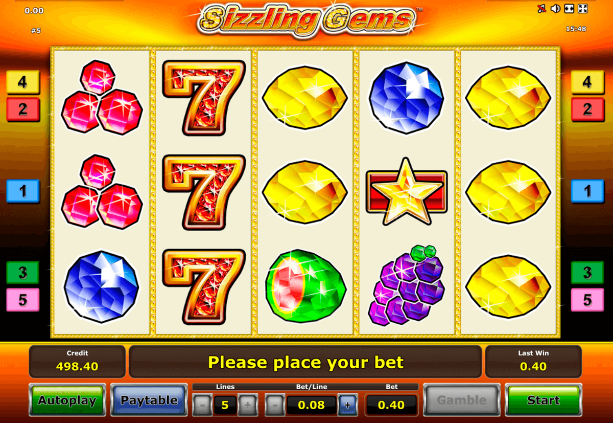 sizzling gems novomatic slot machine