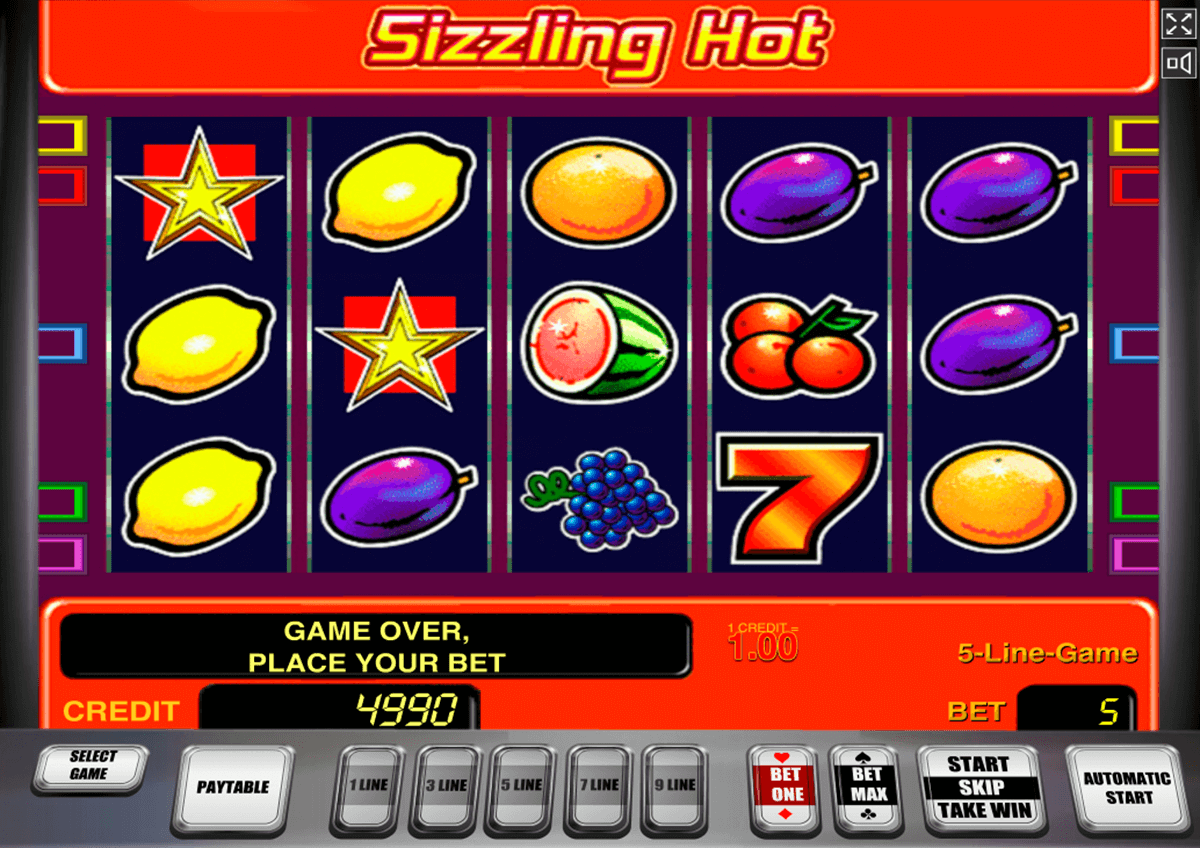 sizzling hot novomatic slot machine