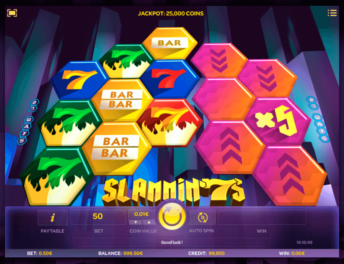 slammin 7s isoftbet slot machine