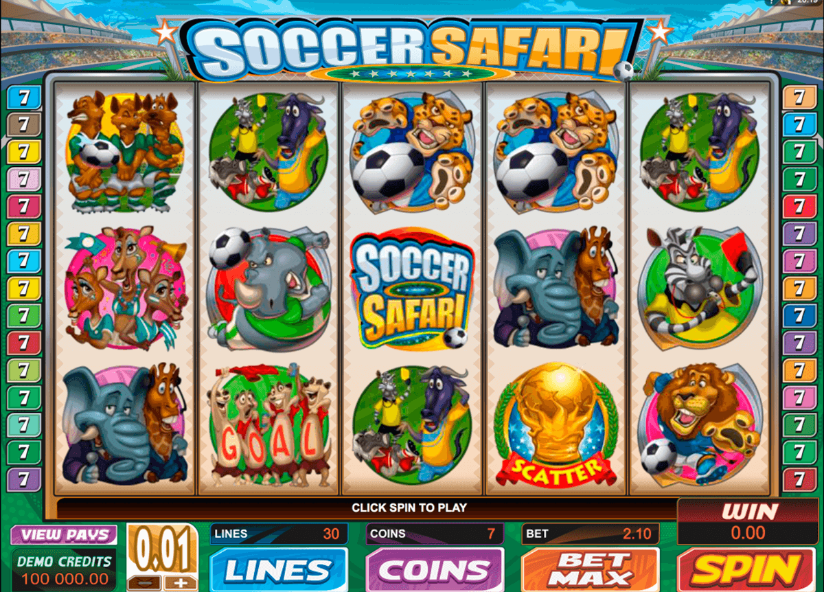 soccer safari microgaming slot machine