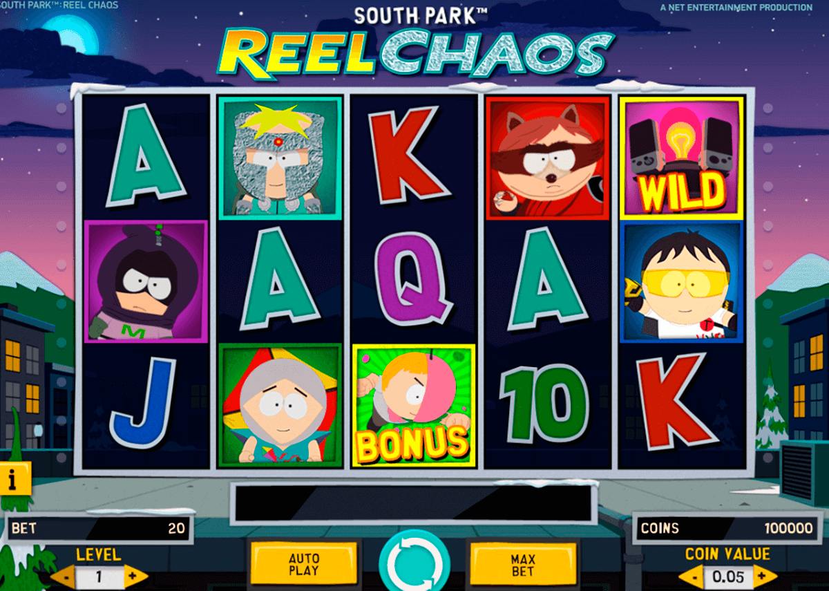south park reel chaos netent slot machine