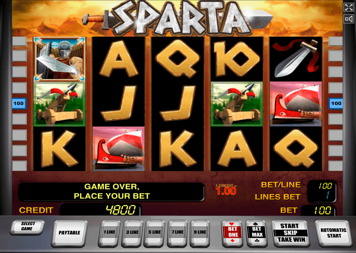 sparta novomatic slot machine