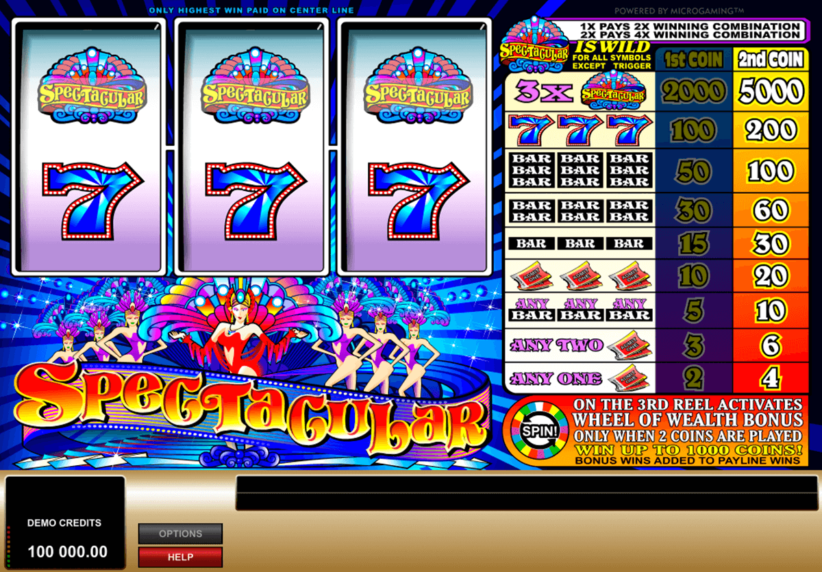 spectacular microgaming slot machine