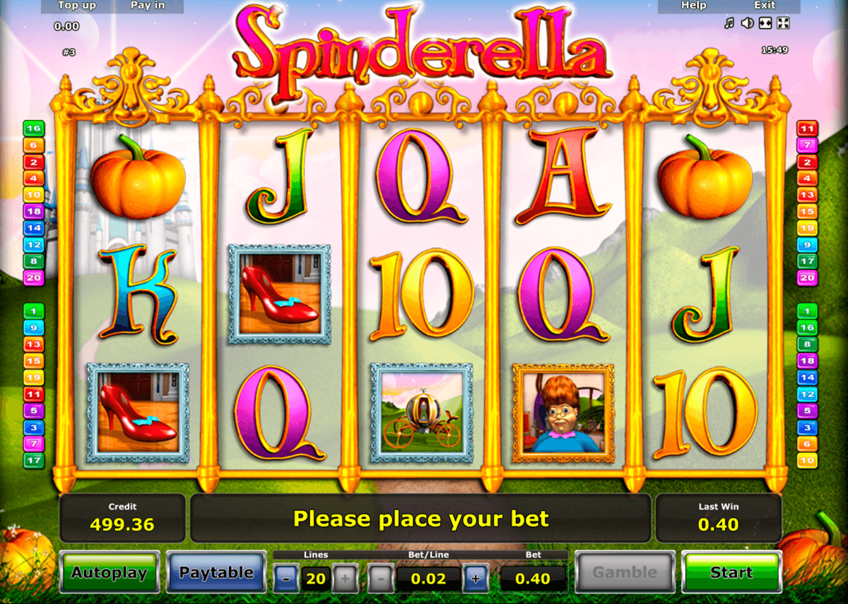 Cindereela slot machine online novomatic Yomra