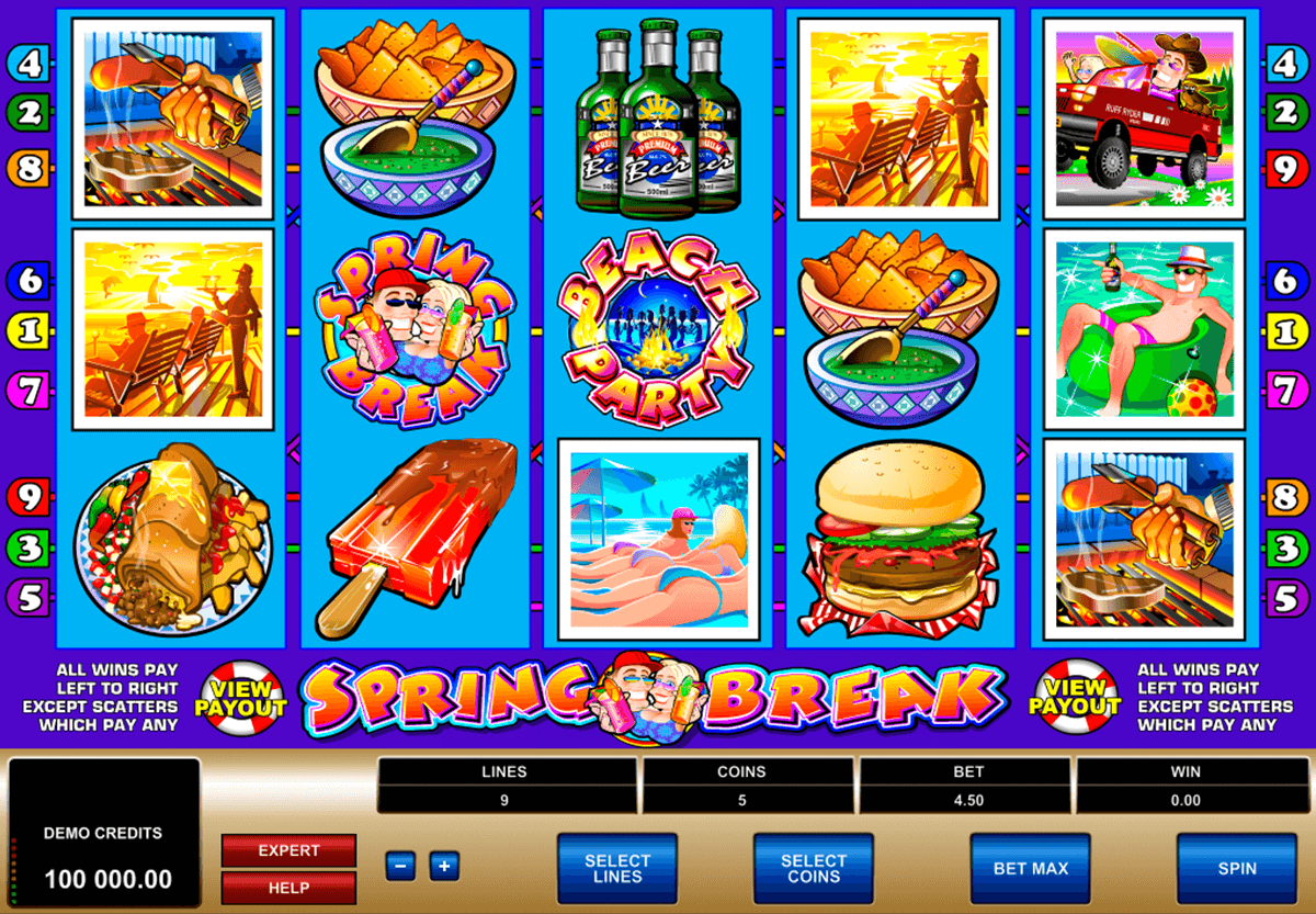 spring break microgaming slot machine
