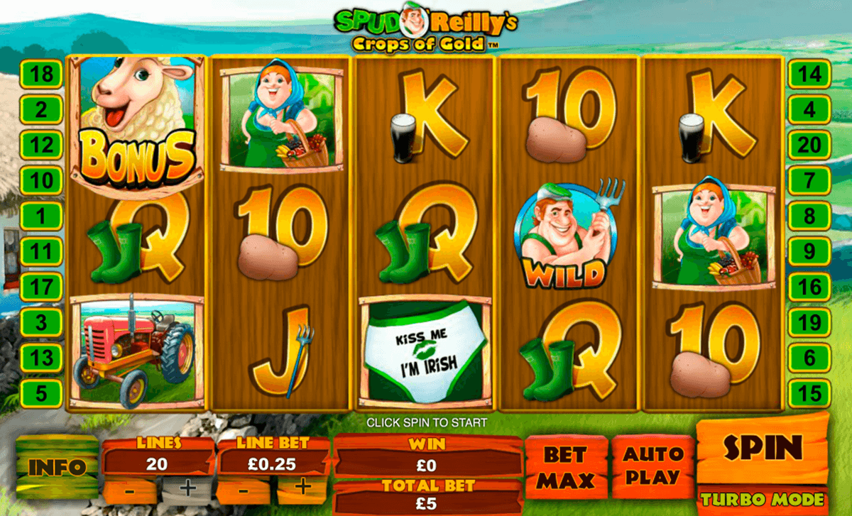spud oreillys crops of gold playtech slot machine