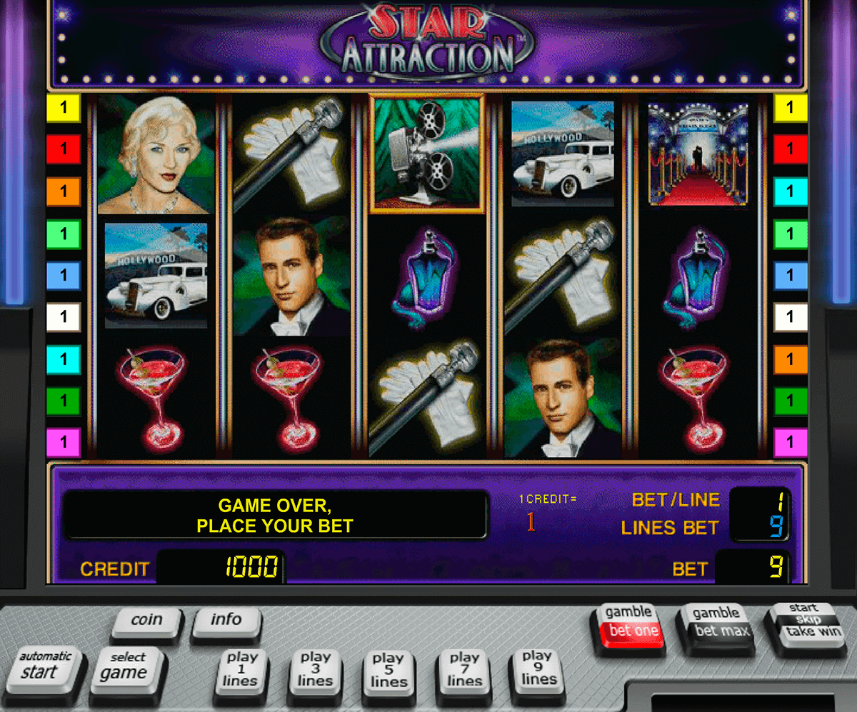 star attraction novomatic slot machine