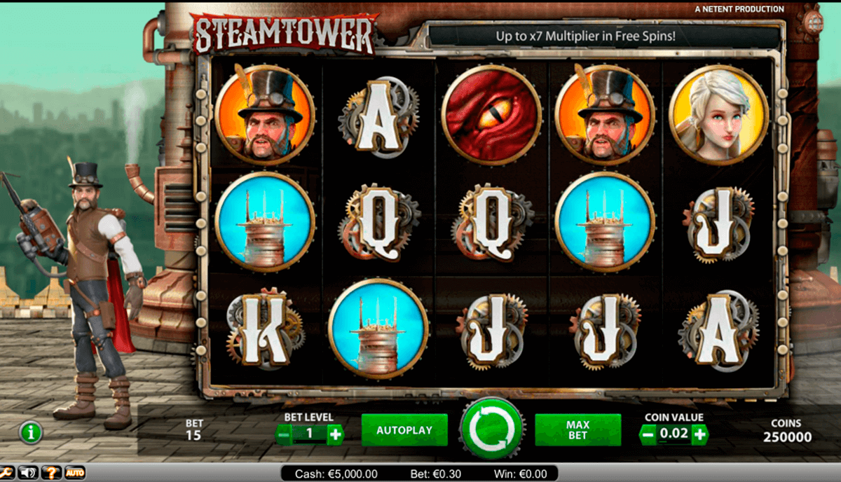 steam tower netent slot machine