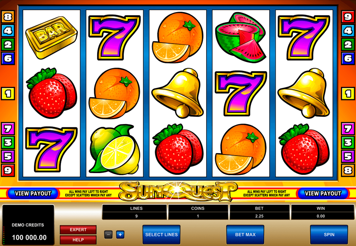 sunquest microgaming slot machine