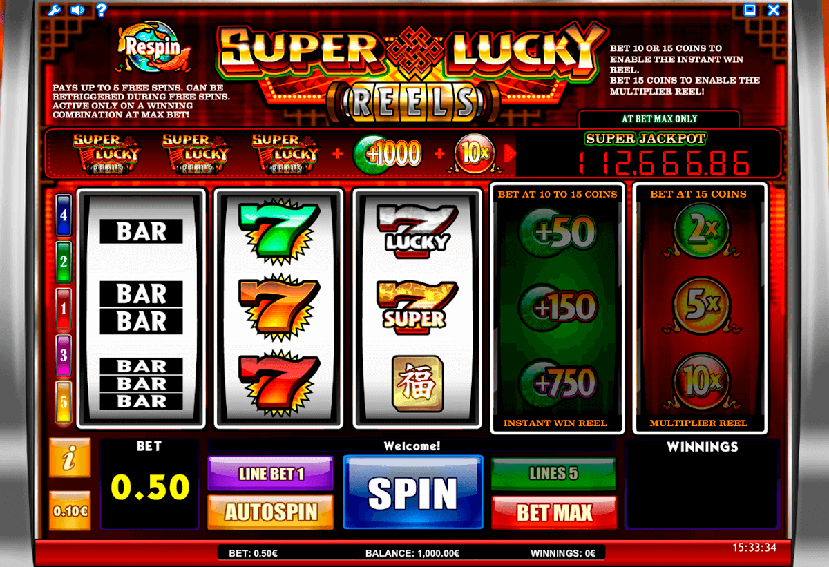 super lucky reels isoftbet slot machine