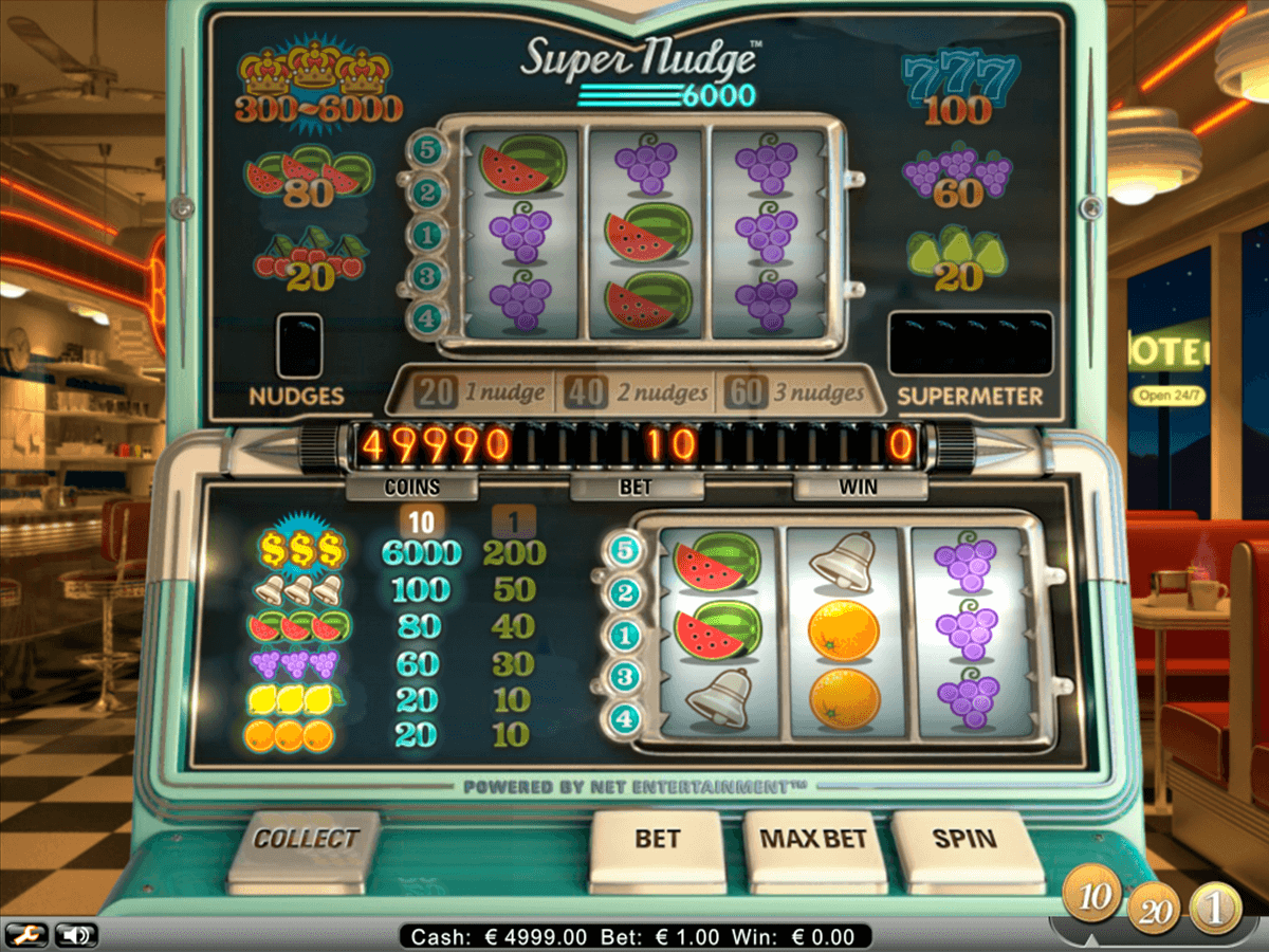 super nudge 6000 netent slot machine
