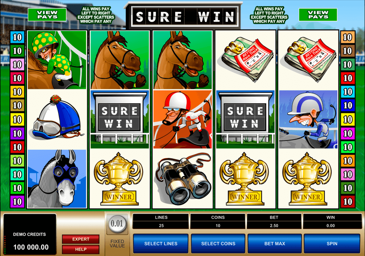 sure win microgaming slot machine