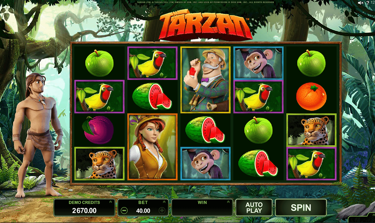 tarzan microgaming slot machine