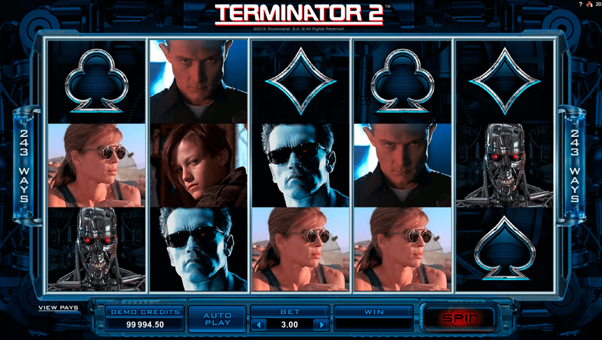 terminator 2 microgaming slot machine