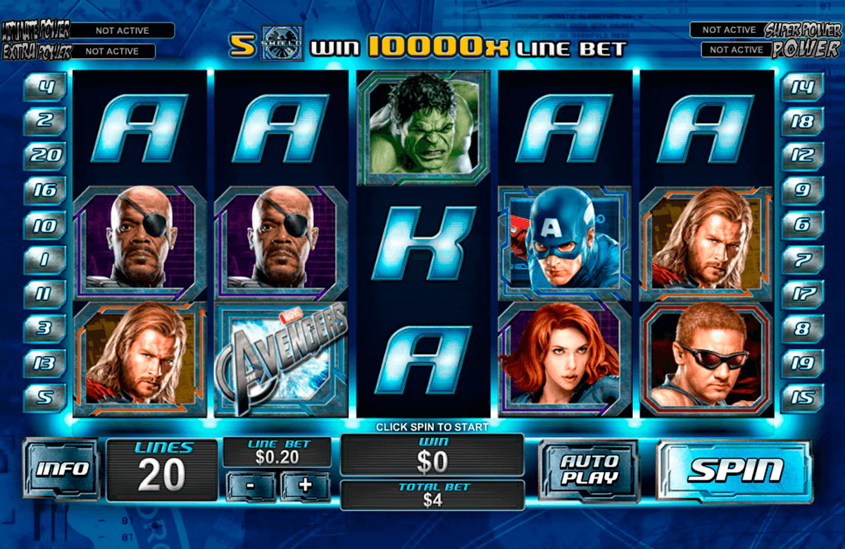 the avengers playtech slot machine