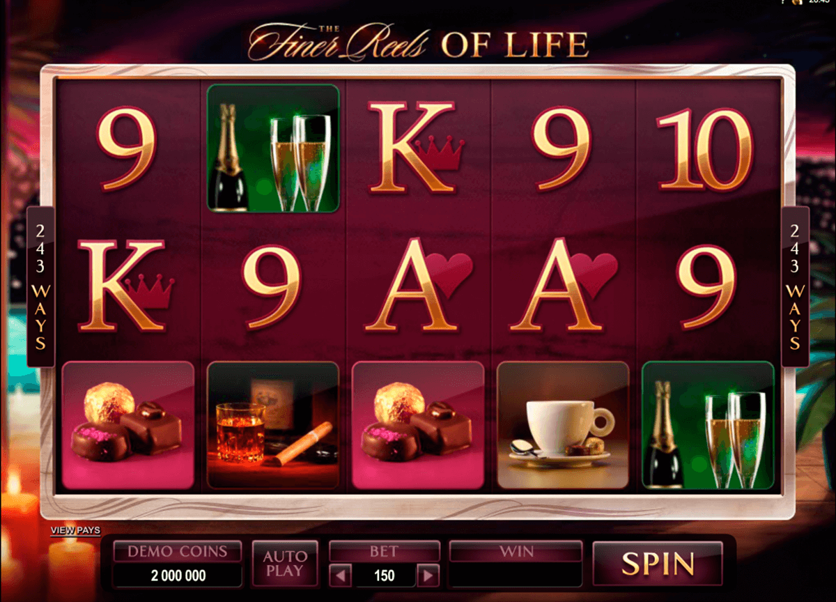 the finer reels of life microgaming slot machine