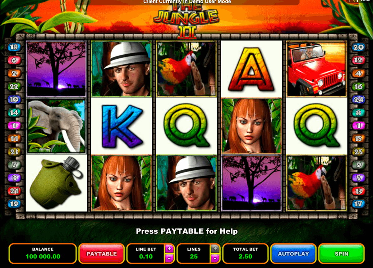 the jungle ii microgaming slot machine