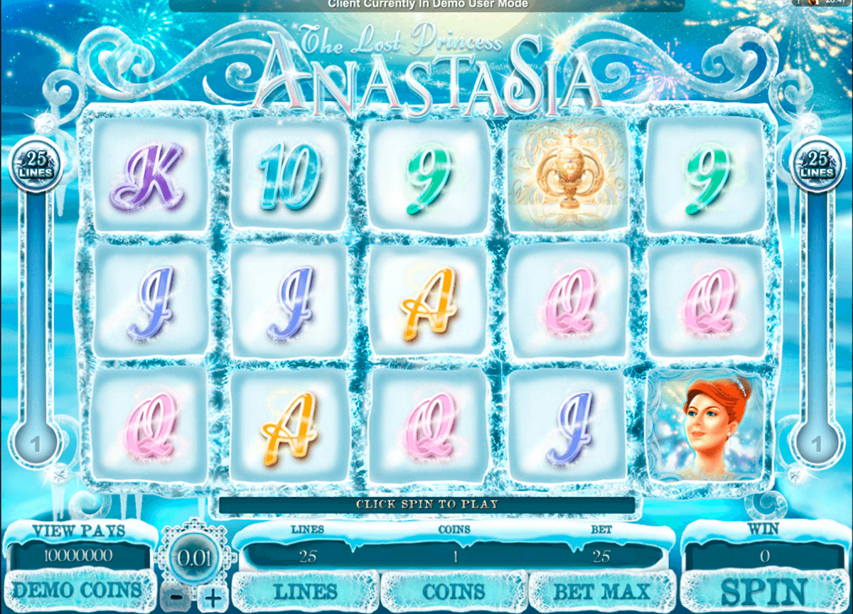 the lost princess anastasia microgaming slot machine