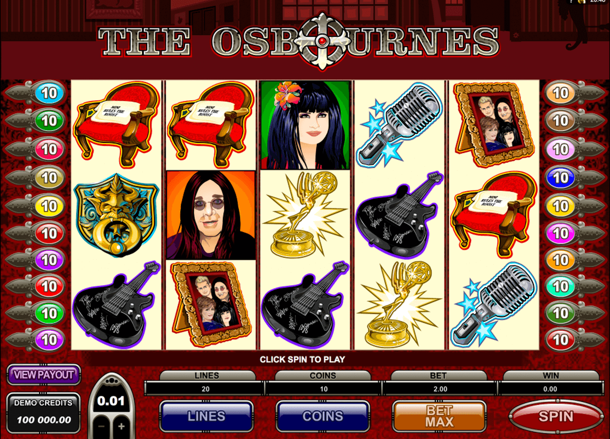 the osbournes microgaming slot machine